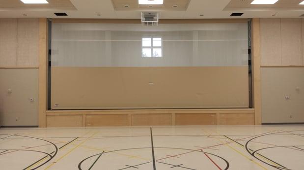 gym-divider-installed-on-stage-at-bethel-gospel-chapel