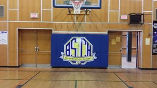 Bishop-smith-catholic-school-padding-on-main-gym-wall