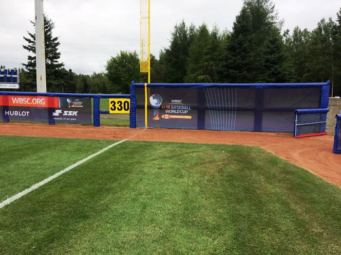 Thunderbay-Central-outfield-post-padding-u-18-baseball-world-cup