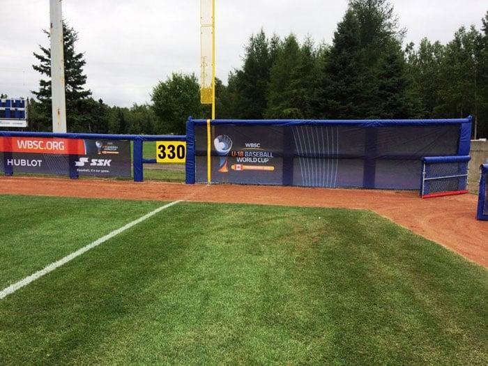 Thunderbay-Central-outfield-post-padding-u-18-baseball-world-cup