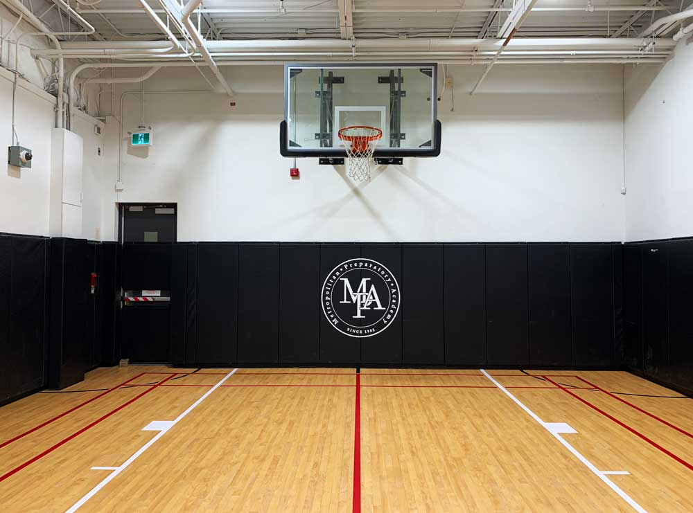basketball-wall-padding-metro-prep-toronto