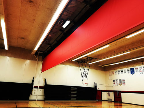 bayside-secondary-gym-divider-curtain-open
