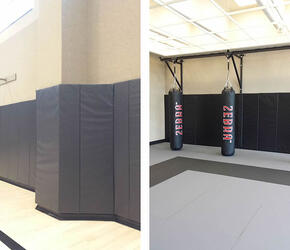 life-time-athletic-wall-padding-installation