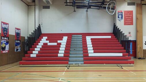telescopic-bleachers-with-custom-lettering